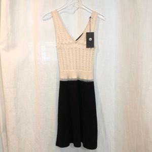 THAKOON / mixed knit tank dress